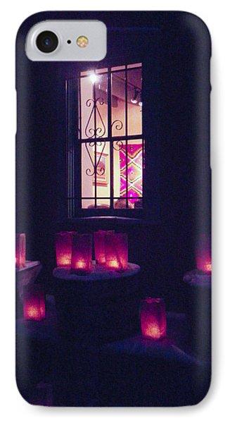Farolitos Or Luminaria Below Window 2 IPhone Case