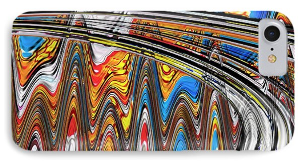 IPhone Case featuring the digital art Highway To Nowhere Abstract by Gabriella Weninger - David