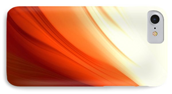 IPhone Case featuring the digital art Glowing Orange Abstract by Gabriella Weninger - David