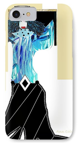 Fashion Angel IPhone Case by Ann Calvo