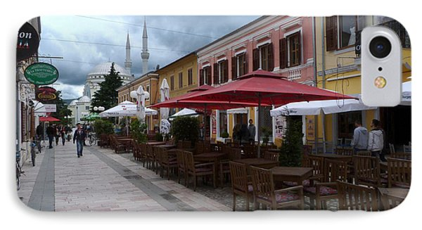 Fashion Cafes And Mosque - Shkoder IPhone Case
