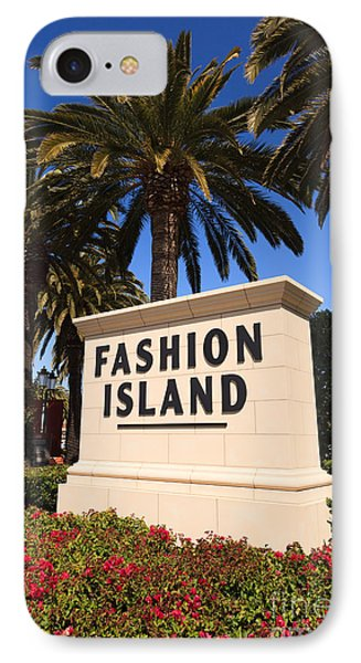 Fashion Island Sign In Orange County California Phone Case by Paul Velgos
