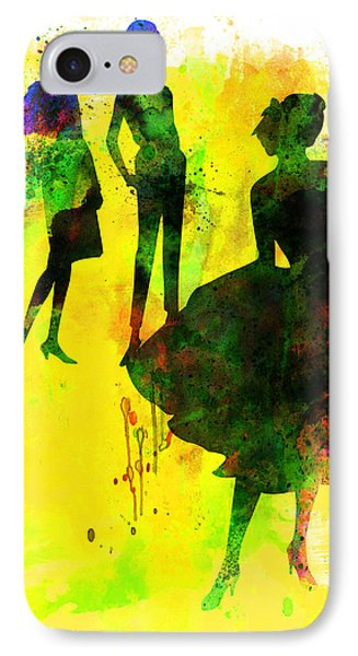 Fashion Models 2 IPhone Case by Naxart Studio