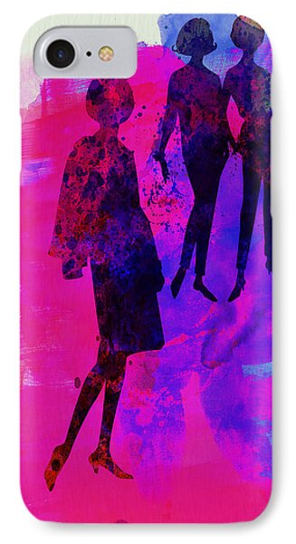 Fashion Models 4 IPhone Case by Naxart Studio