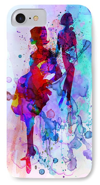 Fashion Models 5 IPhone Case by Naxart Studio