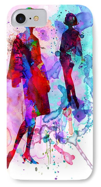 Fashion Models 8 IPhone Case by Naxart Studio