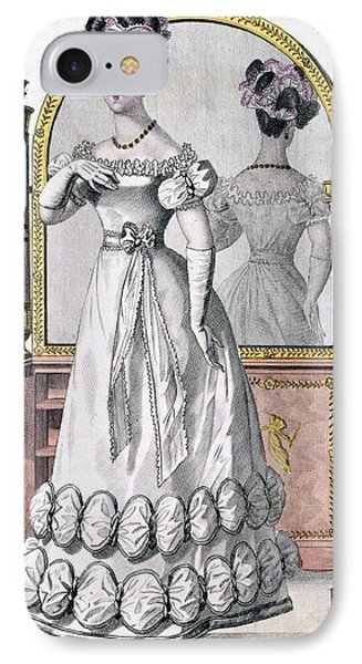 Fashion Plate Of A Lady In Evening Phone Case by English School