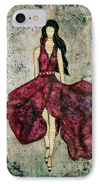 Fashionista Mixed Media Painting By Janelle Nichol IPhone Case by Janelle Nichol