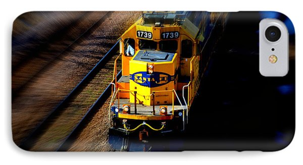 IPhone Case featuring the photograph Fast Moving Train by Karen Kersey