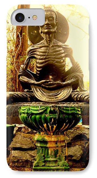 Fasting Bodhisatva IPhone Case by Ashley Ann Austin