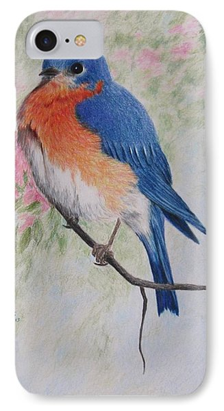 Fat And Fluffy Bluebird Phone Case by Mary Rogers