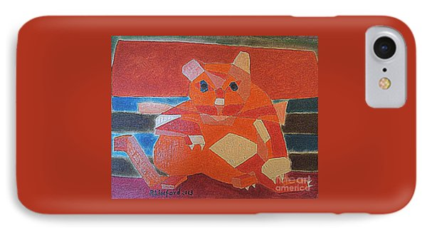 Fat Cat On A Hot Chaise Lounge Phone Case by Richard W Linford