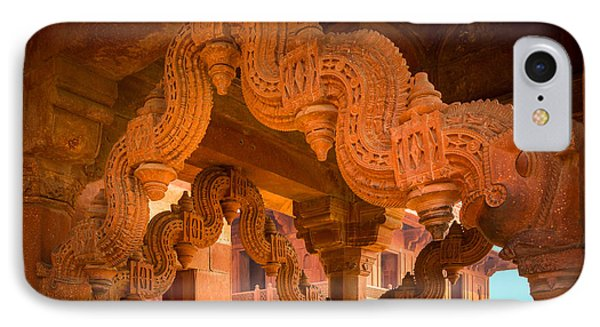 Fatehpur Sikri Detail Phone Case by Inge Johnsson