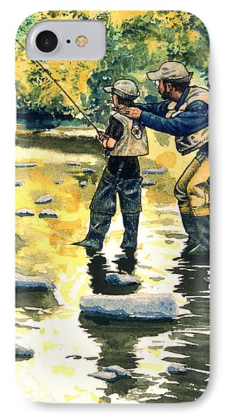 Father And Son IPhone Case by John D Benson