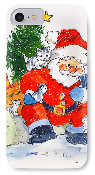 Father Christmas And Kittens, 1996  IPhone Case