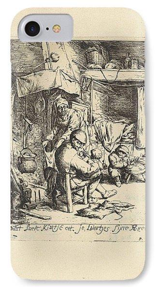 Father Feeds A Child IPhone Case by Jacob Laurensz. Van Der Vinne And Adriaen Van Ostade
