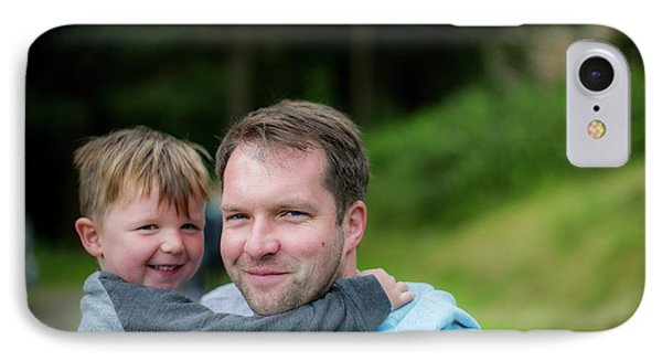 Father Holding Son IPhone Case