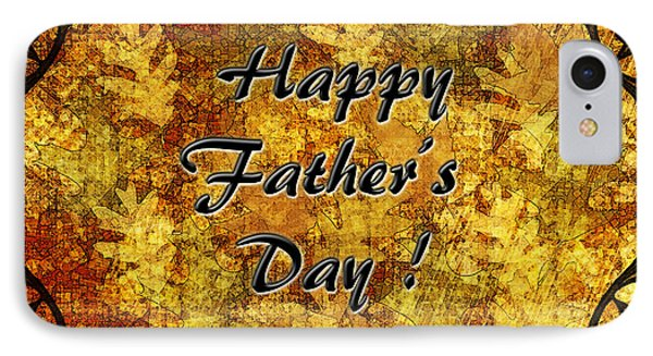 Father's Day Greeting Card I Phone Case by Debbie Portwood