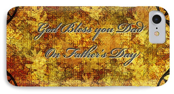 Father's Day Greeting Card IIi Phone Case by Debbie Portwood