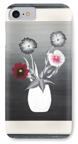 IPhone Case featuring the painting Faux Flowers II by Ron Davidson