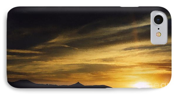 IPhone Case featuring the photograph Faux Lordsburg New Mexico Sunset 2 by Margaret Newcomb