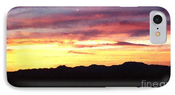 IPhone Case featuring the photograph Faux Lordsburg New Mexico Sunset by Margaret Newcomb