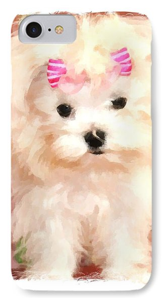 IPhone Case featuring the photograph Faux Maltese Bella by Margaret Newcomb