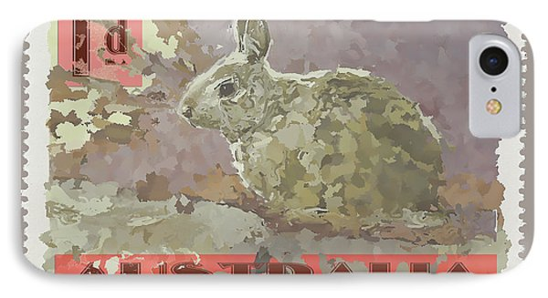 Faux Poste Bunny 1d IPhone Case by Carol Leigh