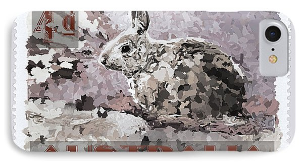 Faux Poste Bunny 4d IPhone Case by Carol Leigh