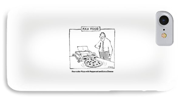 Fax Food 'four-color Pizza With Pepperoni IPhone Case