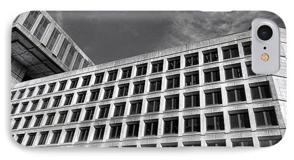 Fbi Building Side View IPhone Case by Olivier Le Queinec