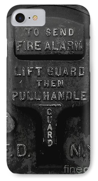 IPhone Case featuring the photograph Fdny - Alarm by James Aiken