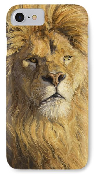 Lion iPhone 7 Case - Fearless - Detail by Lucie Bilodeau