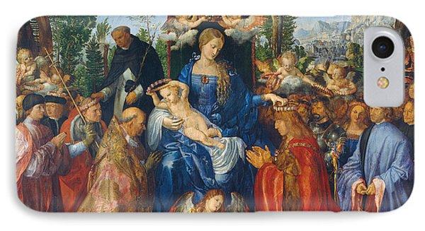 Feast Of Rose Garlands Phone Case by Albrecht Durer