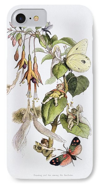 Feasting And Fun Among The Fuschias IPhone 7 Case by Richard Doyle