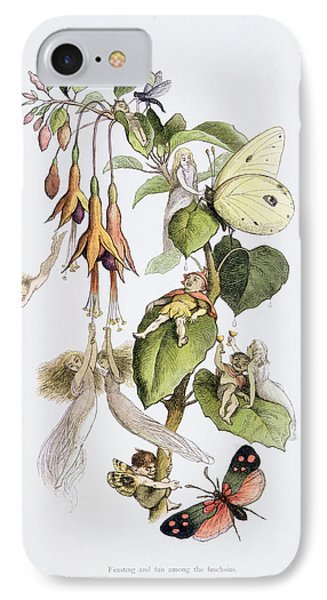 Feasting And Fun Among The Fuschias Phone Case by Richard Doyle
