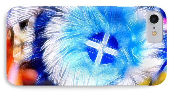 Feather Abstract In Blue 2 IPhone Case