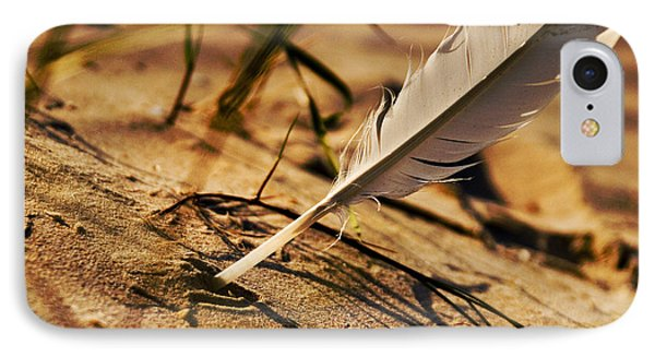 Feather And Sand Phone Case by Raimond Klavins