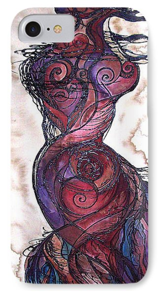 IPhone Case featuring the painting Feather Flow by Christy  Freeman