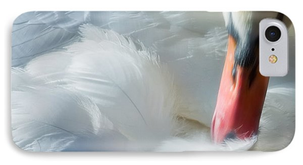 Feather Flufifng IPhone Case by Joan Herwig