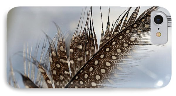 Feather Left Behind IPhone Case by Wanda Brandon
