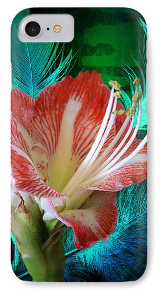Feathered Amaryllis IPhone Case by Rick Friedle