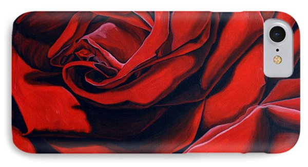 IPhone Case featuring the painting February Rose by Thu Nguyen