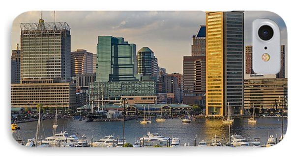Federal Hill View To The Baltimore Skyline IPhone Case by Susan Candelario