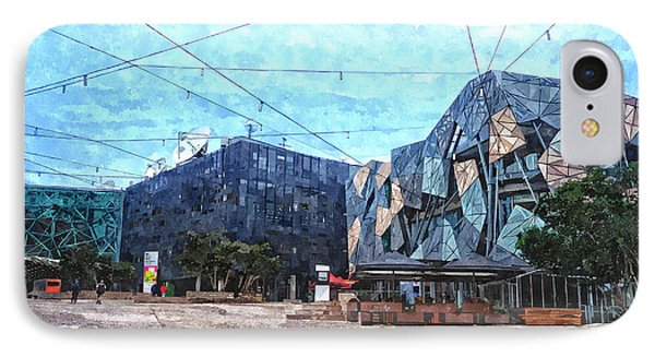 Federation Square In Melbourne Australia IPhone Case