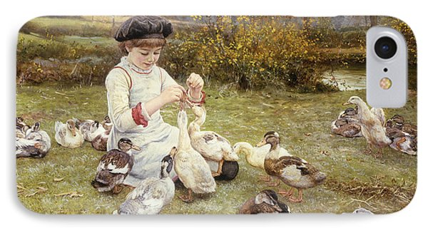 Feeding Ducks Phone Case by Edward Killingworth Johnson