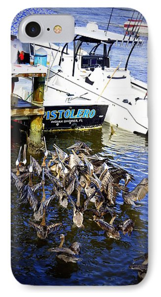 IPhone Case featuring the photograph Feeding Frenzy by Laurie Perry