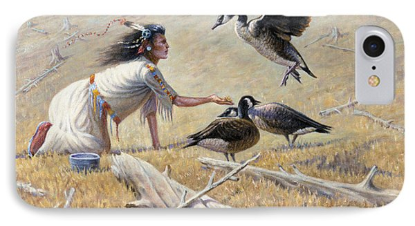 Feeding The Canadian Geese IPhone Case by Gregory Perillo