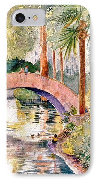 Feeding The Ducks IPhone Case by Marilyn Smith