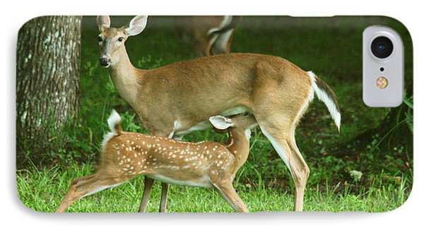 IPhone Case featuring the photograph Feeding Time by Myrna Bradshaw